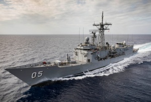 HMAS Melbourne underway during her North East Asia deployment.