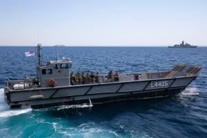 HMAS Canberra's LHD landing craft (LLC).