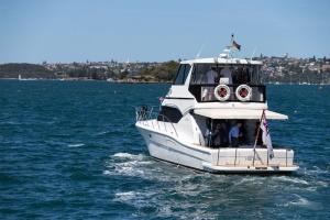 The Admiral Hudson departs Fleet Landing, Sydney for a tour of Sydney Harbour.