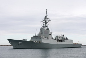 Air Warfare Destroyer Hobart acceptance sea trials commence.