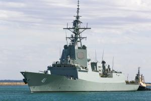 NUSHIP Brisbane commences builder's sea trials. Image: AWD Alliance.